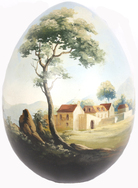 Hand Painted 'Ostrich' Eggs