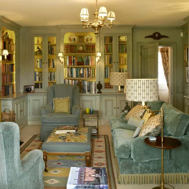 Luxury reading room designed by Meltons
