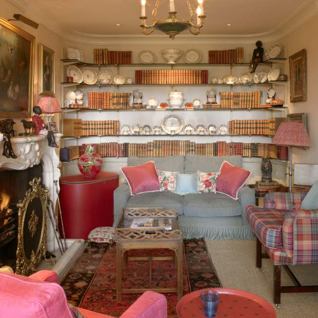 Luxury book room designed by Meltons