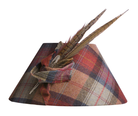 Pheasant Feather Tartan Lampshade Meltons