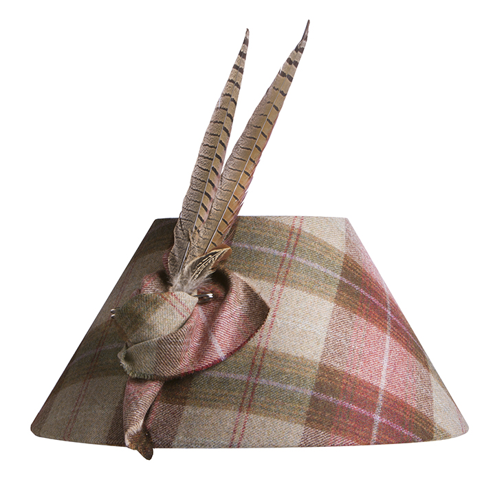 Pheasant Feather Tartan Lampshade Table Lamps And Shades