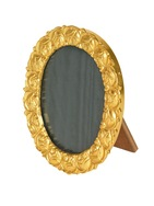 Ormolu frame cast with roses - Oval