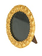 Ormolu  frame cast with roses - Round
