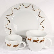 Red Deer Cups and Plate