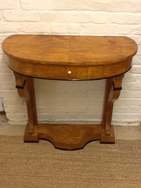 Bow Fronted Biedermeier Console Table