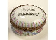 Limoges Pill Box - \'Merci Infiniment\'
