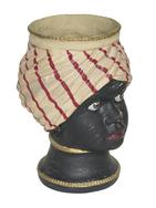 Moorish Woman's Head Cachepot