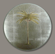 Set of 6 round Palm Tree Decoupage Mats