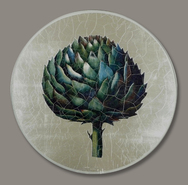 Set of 6 Decoupage Mats with Artichoke Design