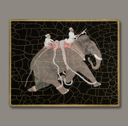 Set of 6 Indian Elephant Decoupage Mats