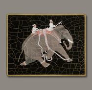 Set of 6 Indian Elephant Decoupage Mats