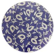 Circular Glass Platter  -  Antique Duck Design