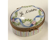 Limoges Pill Box - Je t'adore