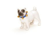 Small Cream Porcelain Pug