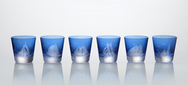 Vodka Shot Glasses engraved with Yachts - Set of 6