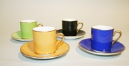 Harlequin Coffee Cups - Set of 4