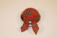 Pewter and Tartan Pin Cushion