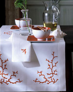 Coral Table Cloth & Napkins