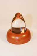 Glass Egg on wooden stand