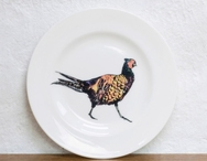 Set of 4 Pheasant Plates
