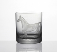 Thoroughbred Horse engraved tumbler - Set of 4