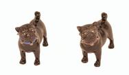 Small Black Porcelain Pug