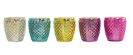 Set of 5 Happy Tea Light Holder