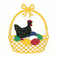 Easter Chicken on Eggs Mobile