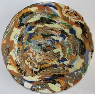 Marbleised Plate - End of Day Ware