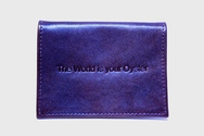 Black Leather Oyster Card Holder