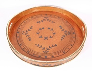 Round Painted Tray