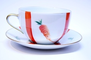 Set of 2 'Potager du Roi ' Cups & Saucers
