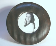 Round Leather Photoframes