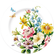 Side Plate - White Floral - Set or 6