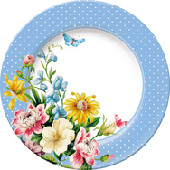 Side Plate - Blue Spot, Set of 6