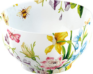 Cereal Bowl - White Floral - Set of 6