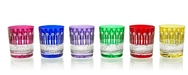 Coloured cut glass Tumblers