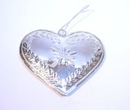 Christmas Tree Silver Heart