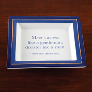Vide Poche with Wise Saying by Winston Churchill
