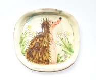 Set of 4 Hedgehog Plates