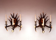 Pair of Antler Wall Lights