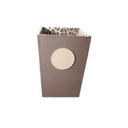 Leather Waste Paper Bin
