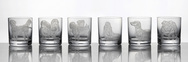 Dog Collection - Set of 6 Double Old Fashioned Glasses