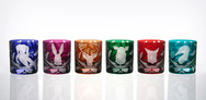 Set of 6 Tumblers with Hunting Theme