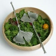 Ginkgo Leaf Salad Servers