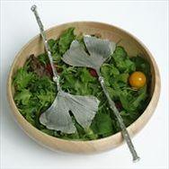 Ginkgo Leaf Salad Servers