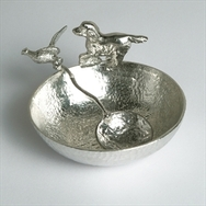 Sugar Bowl with Springer Spaniel and Pheasant