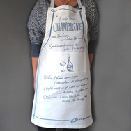 Champagne Apron with Quote by Lily Bollinger