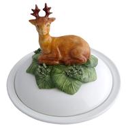 Stag Faience Bowl