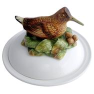 Woodcock Faience Bowl